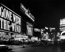 Bright Lights of New York 1940s   Black and White Print Poster