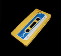 Yellow Cassette Tape Silicone Rubber Iphone 5 5s Case Super Fast Shipping