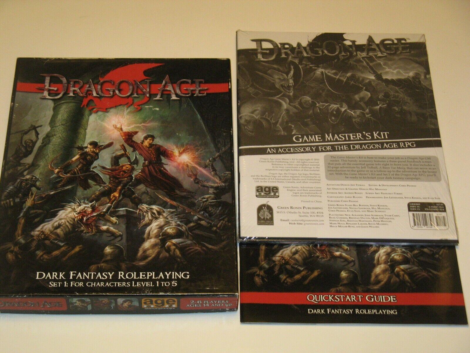 ahorra hasta un 50% Dragón age Set 1+ Juego Juego Juego Master's Kit Nuevo + Quick-Estrellat verde Ronin RPG D&d Lote  todos los bienes son especiales