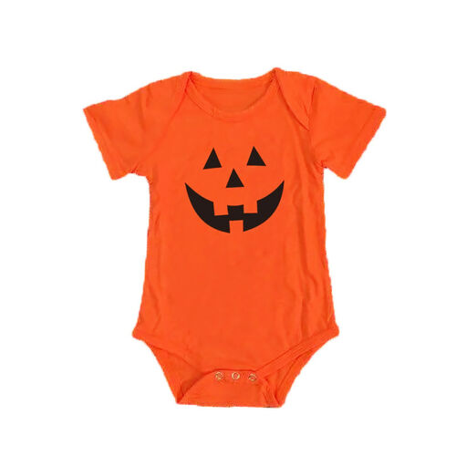 Baby Kid Boy Girl 1st Halloween One Piece Romper Jumpsuit Bodysuit Cotton Outfit