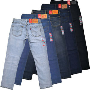 ebdebec1addc5 Levis 511 Mens Slim Fit Jeans Skinny Stretch Denim Blue Black Pants ...