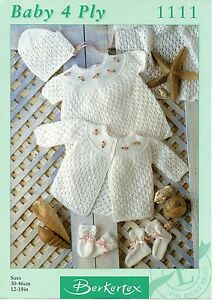 d18f278c2 Berkertex 1111 Vintage Baby Girl Knitting Pattern 12-18