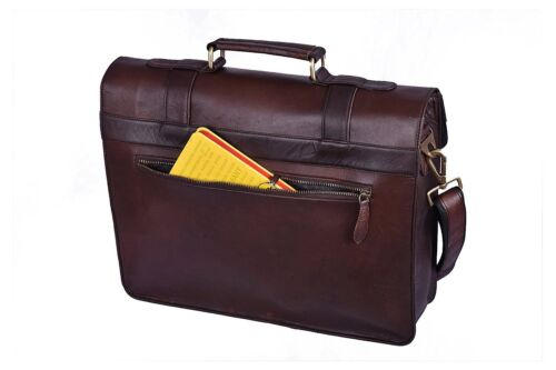 Men/'s New Real Leather Vintage Laptop Messenger Handmade Briefcase Bag Satchel