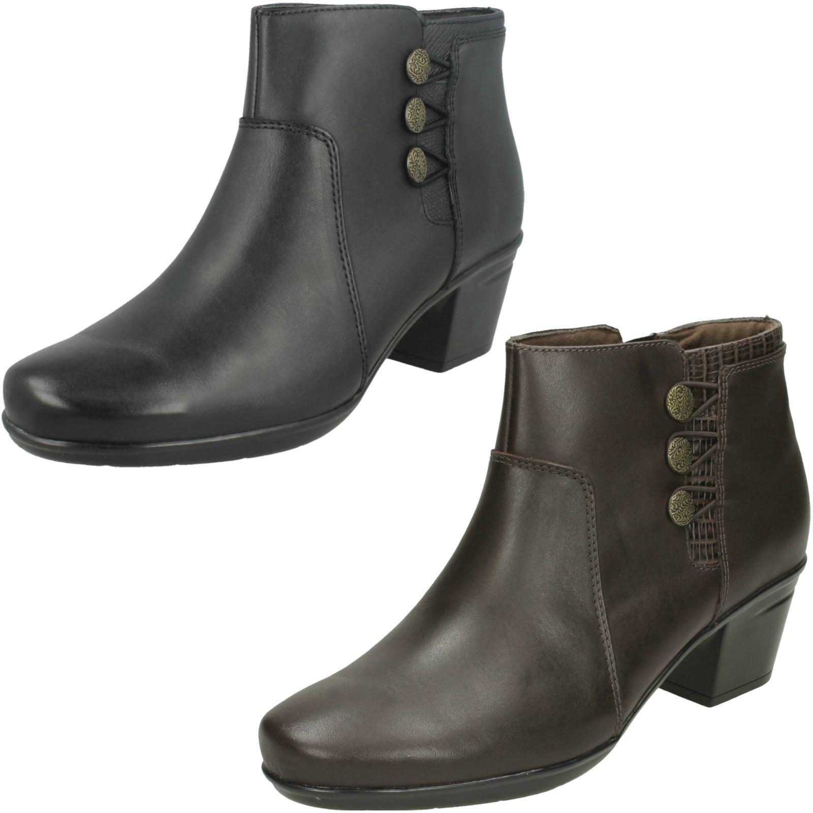 Clarks Ladies Ankle Boots Emslie Monet