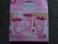 It's A Girl Popcorn Favor Boxes; Baby Shower Favor Boxes Pink; Ready To Pop Them