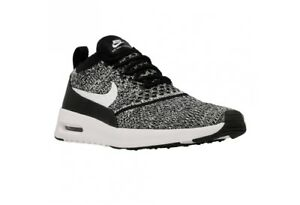 e26423fb24f3f NIKE AIR MAX THEA ULTRA FLYKNIT BLACK WHITE WOMEN S SHOES 881175 001 ...