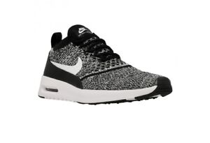 NIKE AIR MAX THEA ULTRA FLYKNIT BLACK WHITE WOMEN S SHOES 881175 001 ... 3889cb7eb
