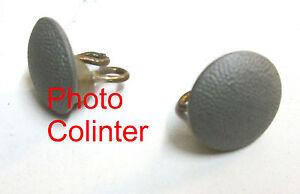 Allemagne-Paire-de-boutons-porte-ceinturon-metral-granite-Diametre-19mm