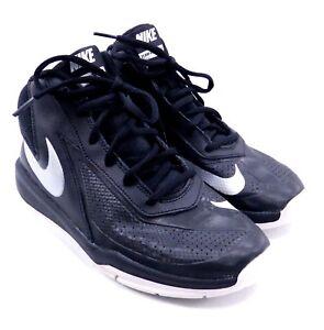 950c7fda281 Nike Team Hustle D7 Basketball Shoes Black Silver White 747998-001 ...