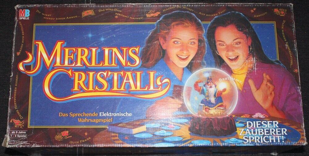 Merlin Cristall-MB jeux-Le parlante électronique Wahrsage Jeu-Neuf