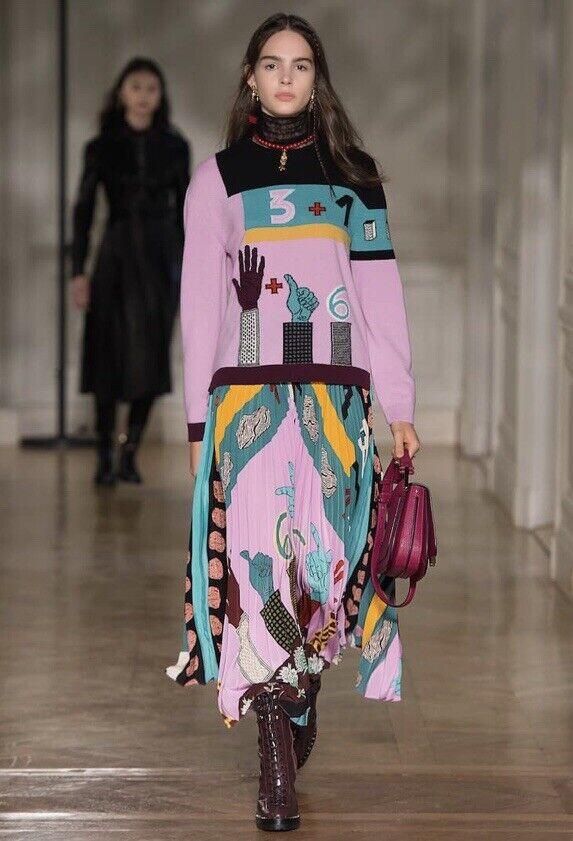 1400 VALENTINO purplec Wool Cashmere Sweater Medium 485e15