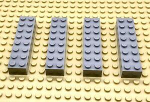 LEGO-Part-6037399-2x8-Brique-Gris-Clair-93888-x-4-pieces