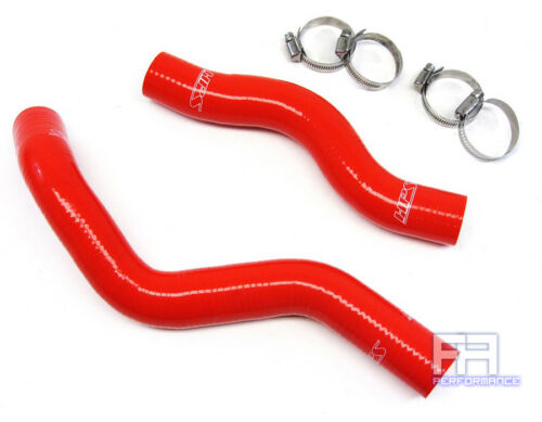 HPS Reinforced Silicone Radiator Hose Kit for Civic 1.8L R18A1 R16A 06-11 Red