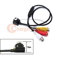 Mini Micro Spy Camera Screw Pinhole Hidden Button 600tvl Video Home Cctv Cam