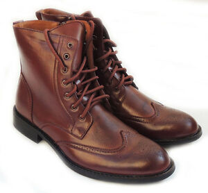 Mens Casual Brown Laceup Shoes