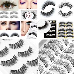 Women Makeup Handmade Natural Thick False Eyelashes Long Eye Lashes Extension
