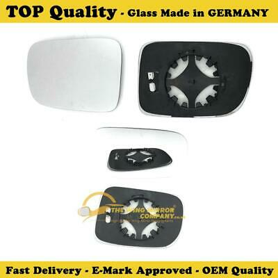UK RH Upper Wing Mirror Glass With Backing Plate Drivers Side