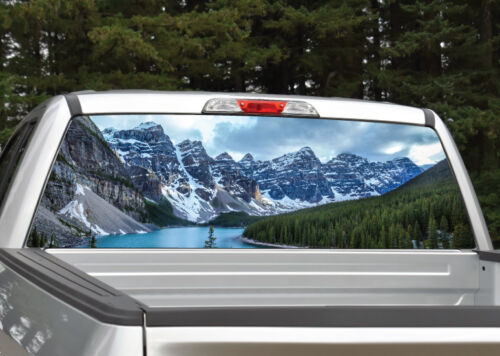 Mountains Lake Scenery Rear Window Decal Graphic for Truck SUV Van