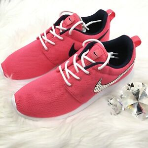 ad4b6c9f0758 Bling Nike Roshe One Shoes w  Swarovski Crystal Bedazzled Swoosh ...