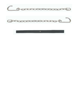 Dodge Truck Zinc Plated Steel Tailgate Chain Set w/Black Covers 39-85 FREE SHIP