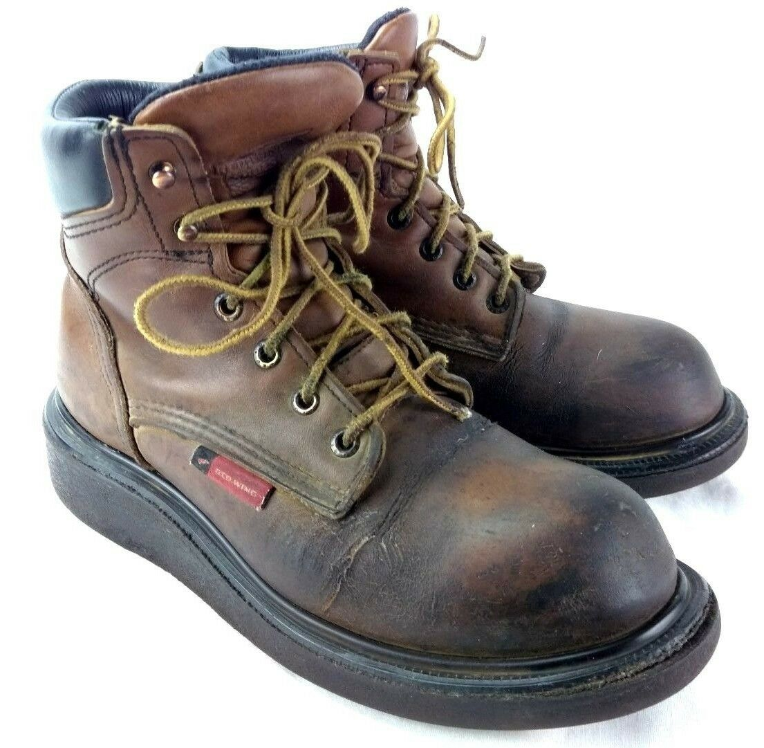 Red Wing 676 Men Sz US 7D SuperSole® 2.0 Safety Toe Work Boot 222-1