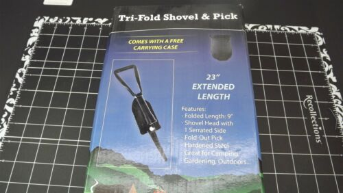 FOLDING SHOVEL /& CASE CAMPING MILITARY STYLE SNOW MINING EMERGENCY Tri-Fold