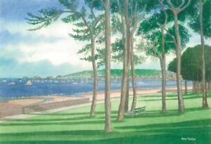 Mumbles Bay from West Cross, Swansea - Greetings Card - Tony Paultyn