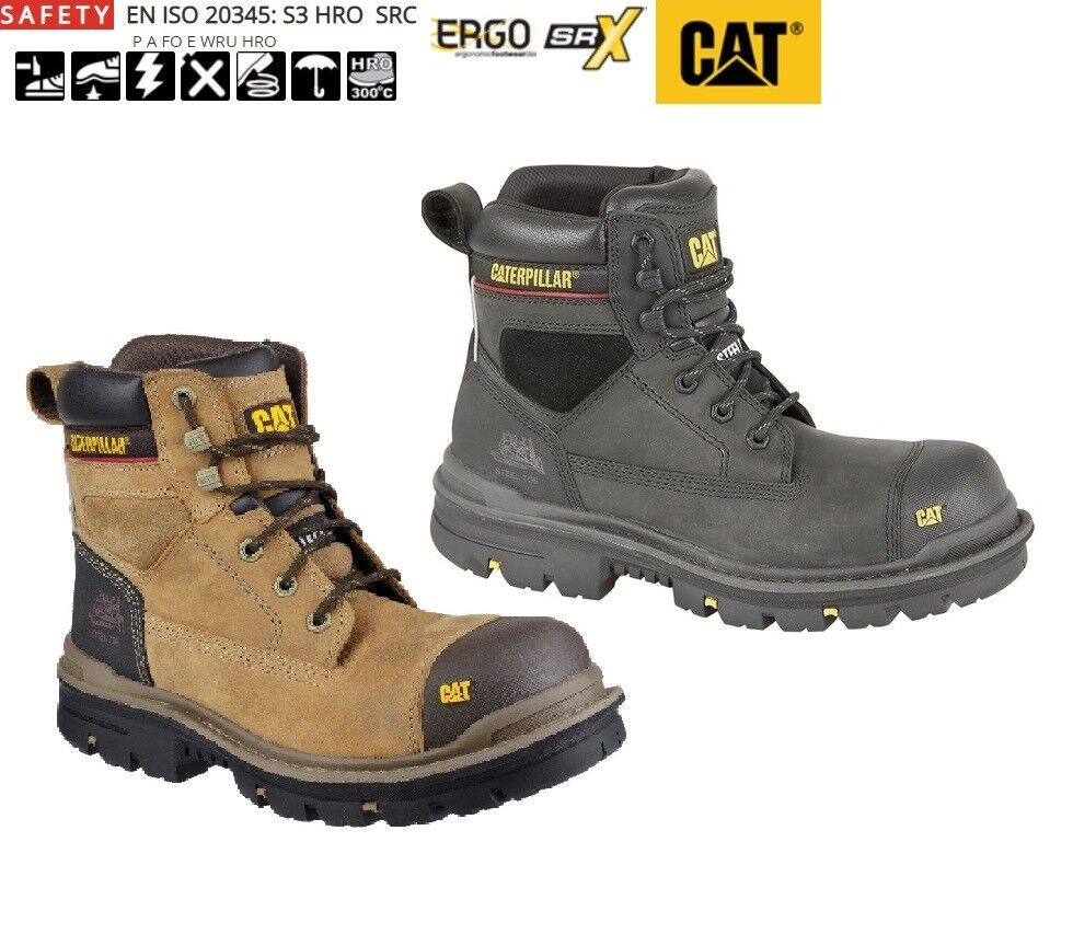 CATERPILLAR Gravel 6  waterproof Safety Work Stiefel S3 Oily Leather Größe 6- 13 UK