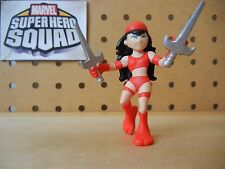 Marvel Super Hero Squad ELEKTRA Red Costume from Wave 2