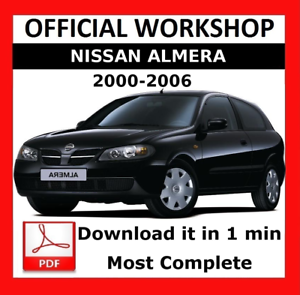 official workshop manual service repair nissan almera 2000 2006 rh ebay co uk 2012 Nissan Sentra 2000 Nissan Sentra