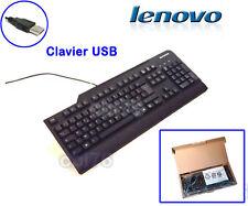 Clavier Français AZERTY USB filaire Lenovo pour PC de bureau NEUF