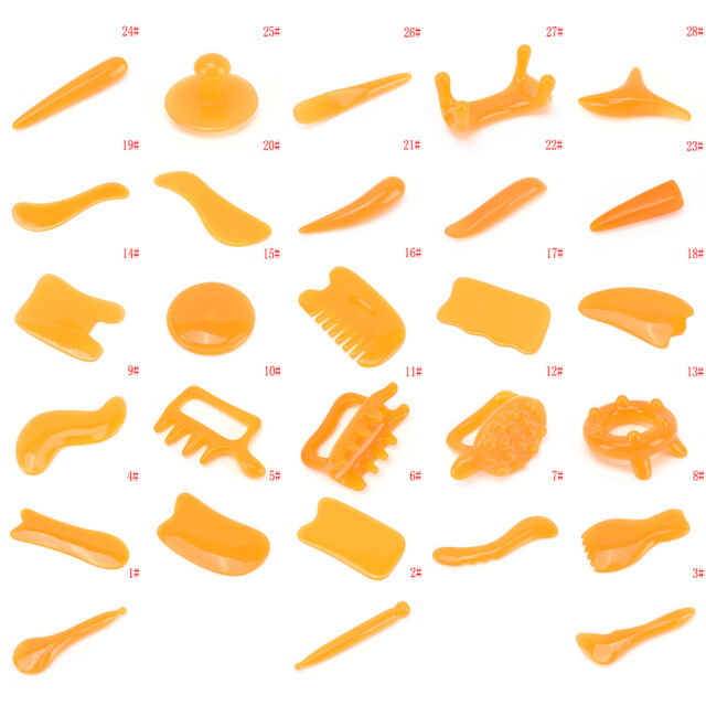 Facial Gua Sha Tool Skin Massage Board Scraping Treatment Massage Tools Salon JR