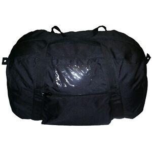 TAS BLACK ECHELON BAG ARMY DUFFLE 900D X2 WATERPROOF COAT - PVC BASE