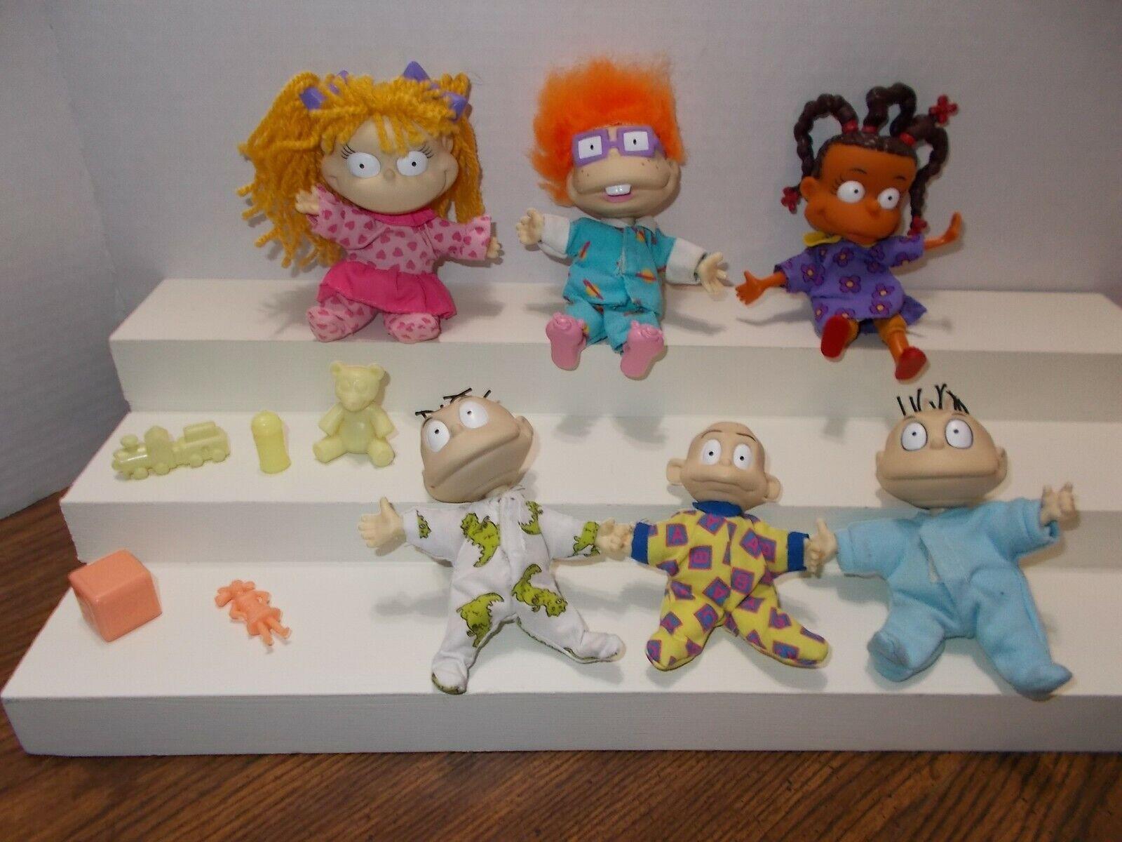 Vintage Lot Rugrats Small Plush Dolls & Accessories Viacom Nickelodeon 1997