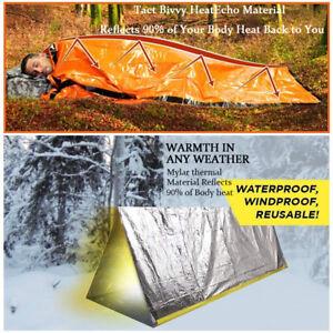 Notschlafsack-thermisch-wasserdicht-fuer-Outdoor-Survival-Camping-Wandern-NEU-so