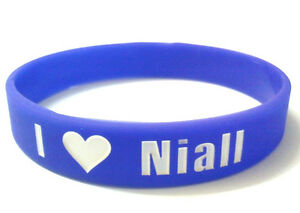 ONE DIRECTION 1D 'I <3 love Niall' purple wristband bracelet *SAME DAY POST