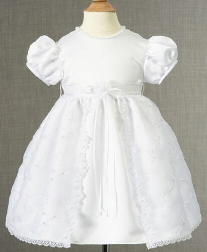 Baby Girls Christening Dress Lauren Madison Baby Dress White Size 18 M