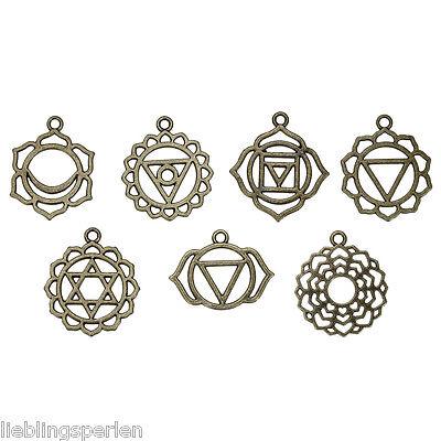 LP 21 Mix Bronze Charms Anhänger für Halskette Schmuck Karo 3.1x2.8cm-2.9x2.3cm