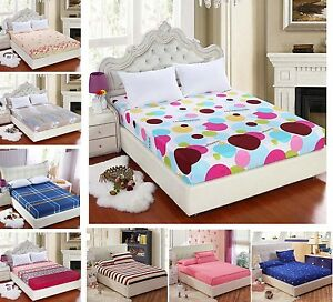 Soft-Fitted-Sheet-Single-Double-Queen-King-Super-King-All-Size