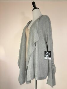 Simply-Vera-Wang-Cardigan-Sweater-XL-16-18-Bell-Sleeve-Waterfall-Drape-New