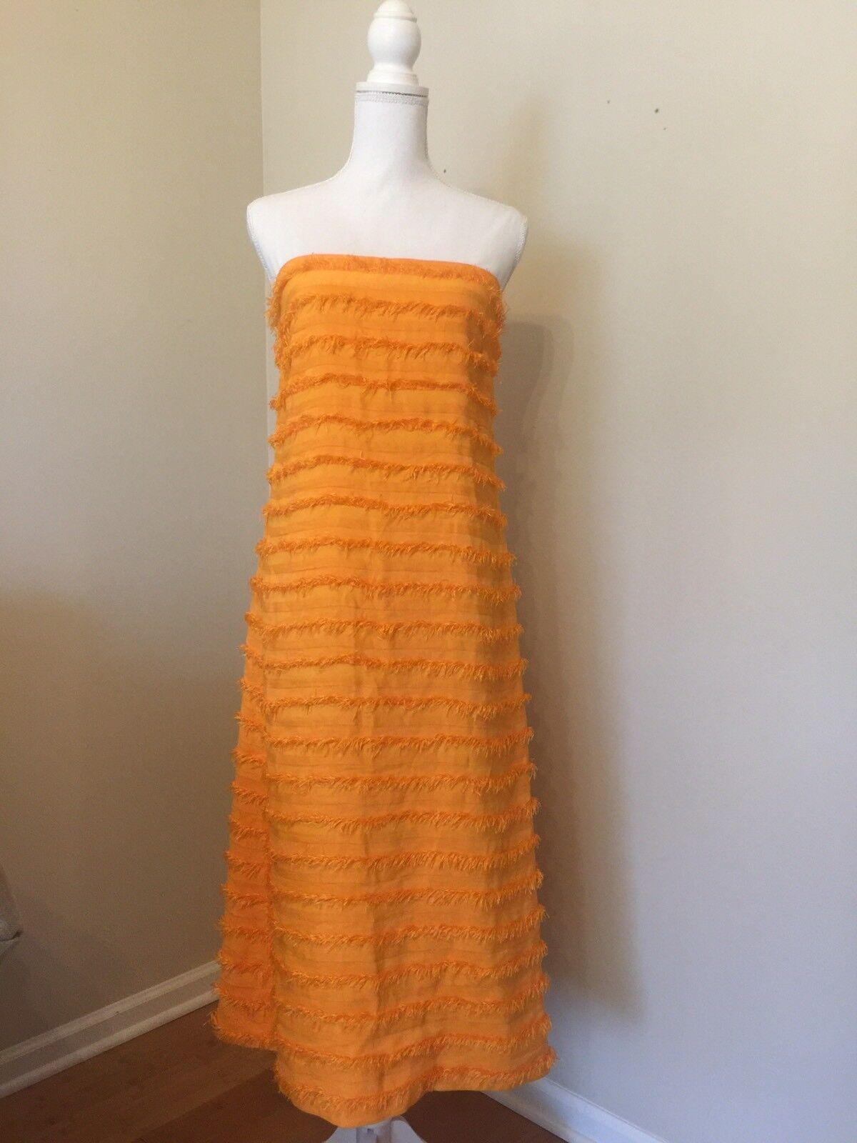 J Crew Collection Fringe orange Sleeveless Dress New Rare Rare Rare Size 2 ece06e