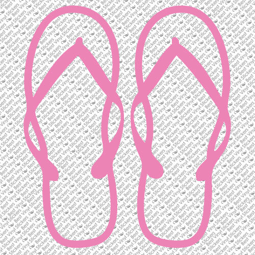 FLIP FLOP SUMMER SAND BEACH WINDOW CUSTOM FAMILY CAR VINYL DECAL STICKER FF-07