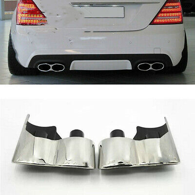 07-13 S63 S65 Muffler Tips Exhaust S-Class S550 S65 S600 Quad W221 08 09 10 11