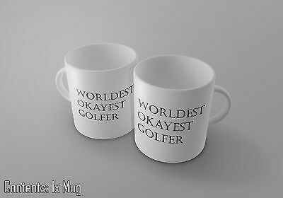 Gift Idea Tea//Coffee Cup//Mug World/'s Okayest Golfer Funny Father/'s Day