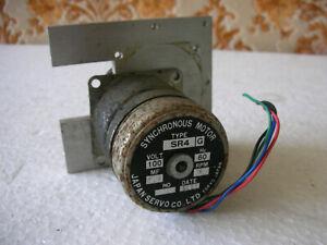 Kimoto-186-s-Synchronous-Motor-SR4-100-Volt-4-RPM-60-Hz-Japan-Servo-Co-Working