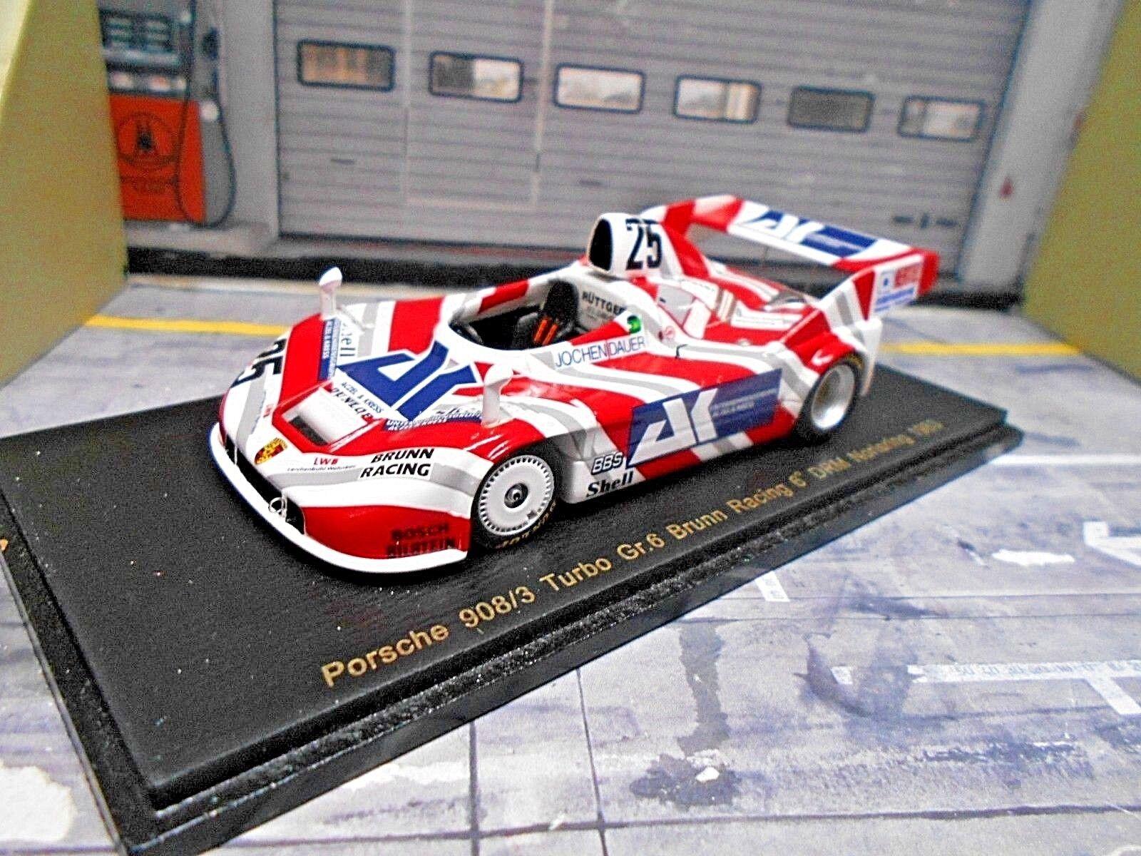 Porsche 908 980 3 Turbo DRM Norisring 1983  25 taille 6 Jesenik durée Resin Spark 1 43