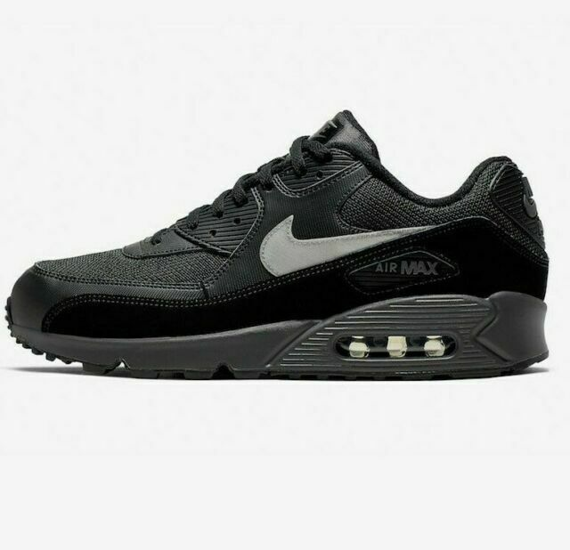 Size 6.5 - Nike Air Max 90 Essential Black Silver for sale online ...