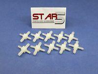 Dental Fitting Connector 1/8'' X 1/8 X 1/16 X 1/16 Barb Plastic 10 Pcs Star5