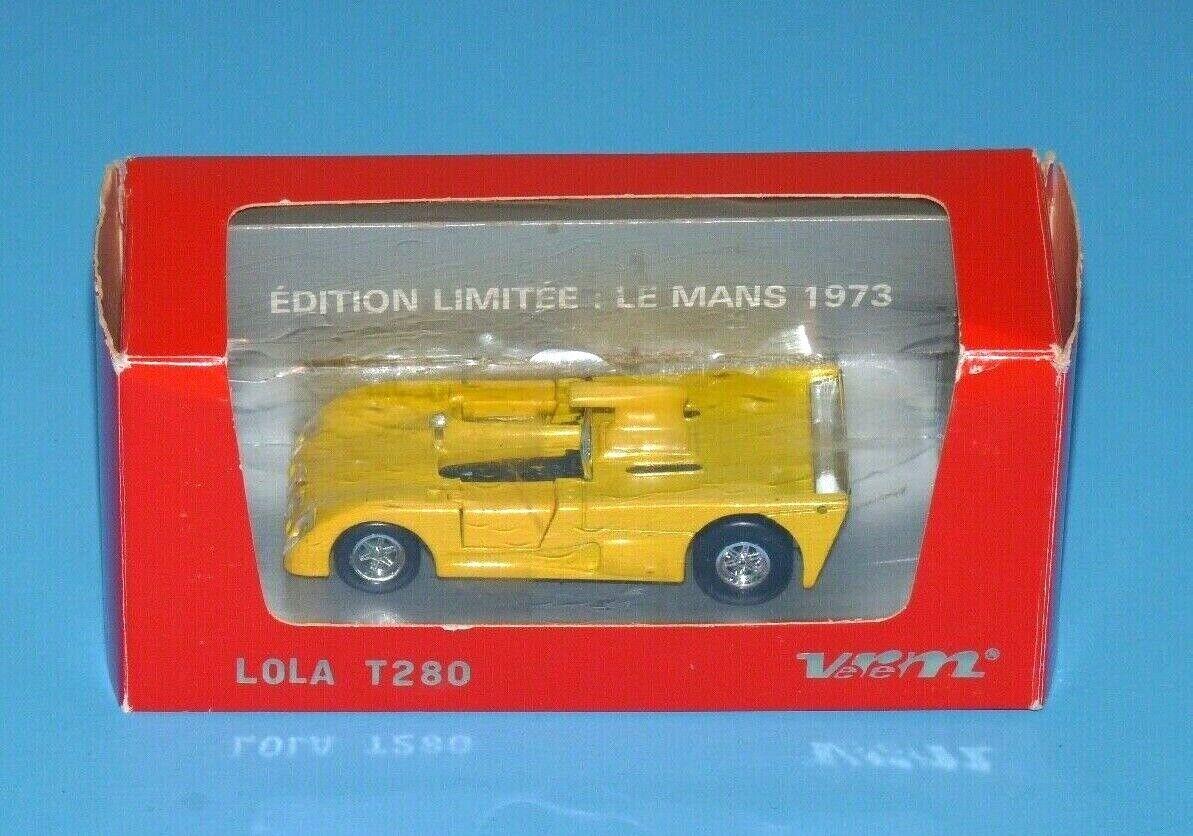 Lola T280 VEREM  606 Le Mans 1973 jaune Diecast Model 1970 S racing car Rare