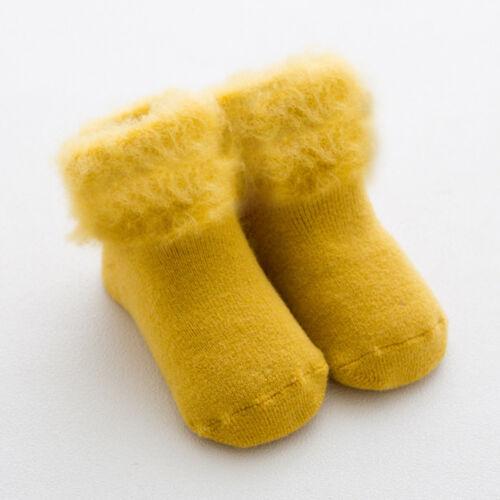 1pairs algodón mullido largo calcetines bebe Unisex niño niña niño suave